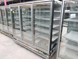 Hussmann RL freezer doors, w/ ele defrost, no ends, 3) doors