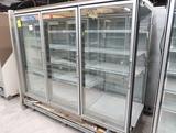 Hussmann RL freezer doors, w/ ele defrost & L end, 3) doors