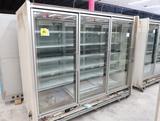 Hussmann RL freezer doors, w/ ele defrost & both ends, 3) doors