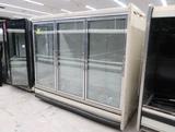 Kysor Warren freezer doors, w/ gas defrost & R end, missing shelves & pans, 3) doors