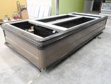Hussmann freezer bunker, 8' center w/ 2) ends, ~15' x 80