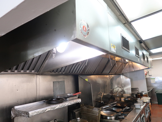 exhaust hoods w/ Kitchen Knight fire supression system