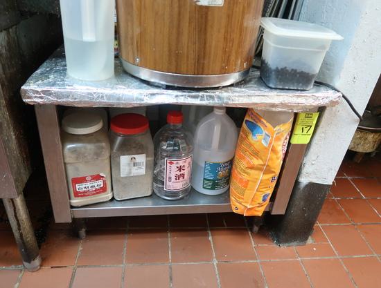 equipment stand w/ cabinet under