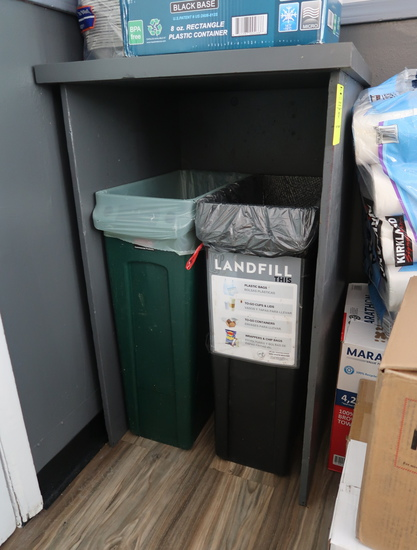 waste receptacles w/ cabinet
