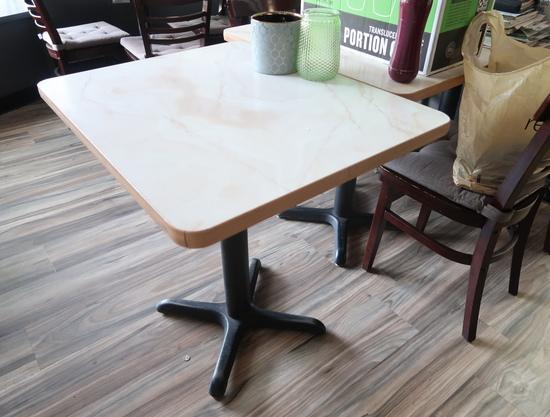 rectangular cafe tables, w/ laminate top
