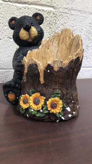 Bear W/ Tree Stump Candy Dishes