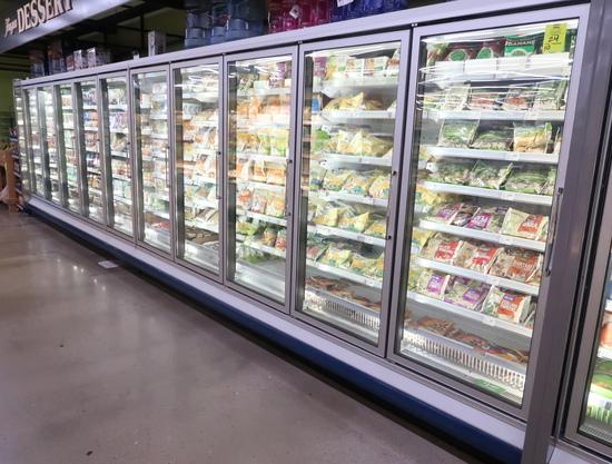 2011 Arneg freezer doors, w/ ele defrost, 10) door run (5+5)