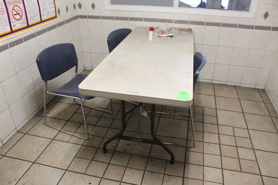 Lifetime 6' Folding Table W/ 3 Chairs