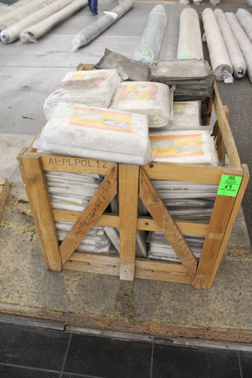 Crate Of Assorted Rug Pads