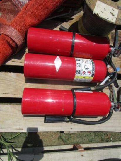 (3) Fire Extiguishers