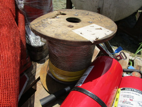 Spool of Braided Wire Cable