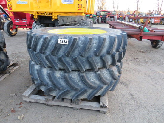 (2) 520/85R46 GALAXY AND FIRESTONE JOHN DEERE AXLE DUALS