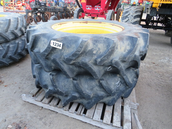 (2) 520/85R46 GOODYEAR ON JOHN DEERE RIMS