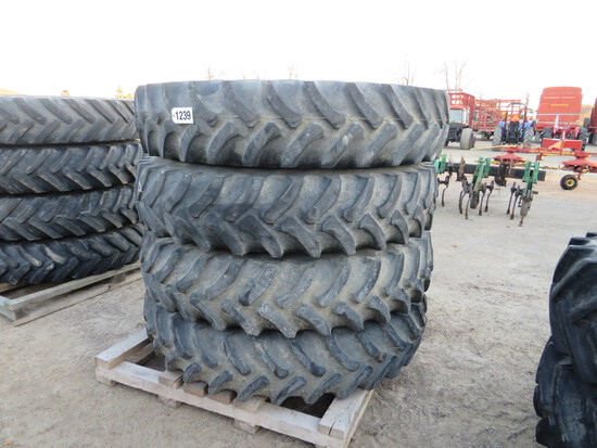 (4) 380/90R46 FIRESTONE ON JOHN DEERE SPRAYER RIMS