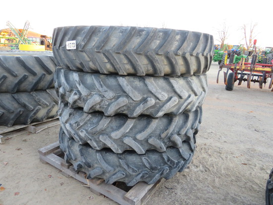 (3) 14.9R46 GOODYEAR ON JOHN DEERE SPRAYER RIMS TO FIT ON R SERIES - (1) 14.9R46 MICHELIN ON JOHN DE