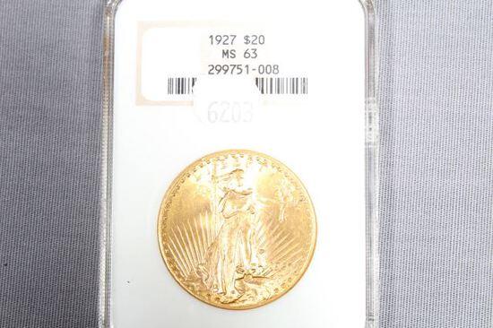 1927 $20 GOLD PIECE MS63 GRADE