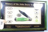 CASE  FRAMED JOHN DEERE COKE BOTTLE GREEN