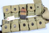 80 ROUNDS 30-06 IN AMMO BELT WITH M1 CLIPS