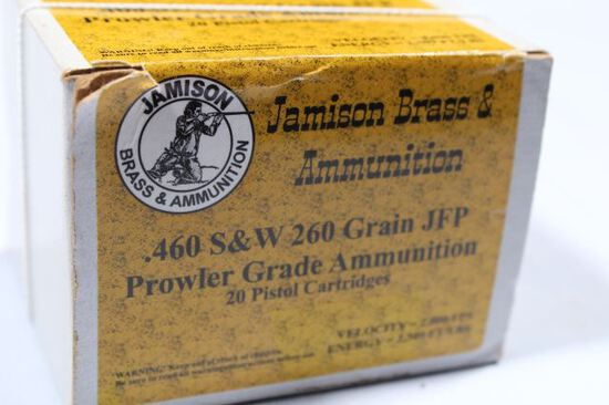APPROX 20 ROUNDS S&W 460 JFP AMMO 260 GRAIN