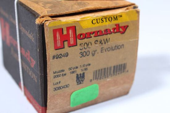 APPROX 20 ROUNDS HORNADY 500 S&W 300 GR EVOLUTION