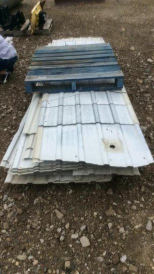 Pallet of steel siding