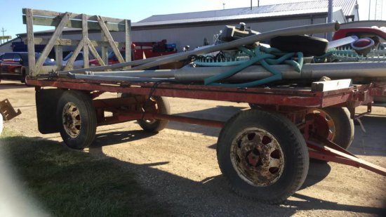 Flat rack wagon and running gear