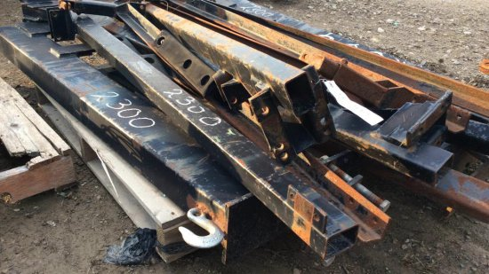 Pallet of Hitches for Harrows