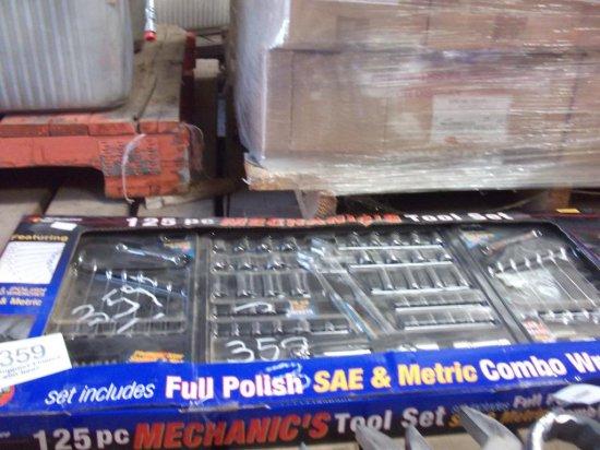 125 pc Mechanics Tool Set SAE Metric