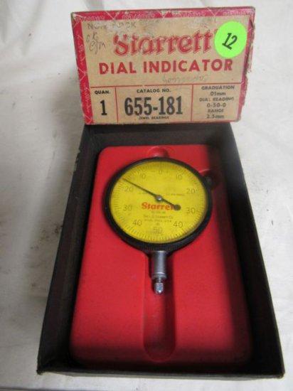 CN3372Q Starrett dial indicator, .01mm - 2.5mm