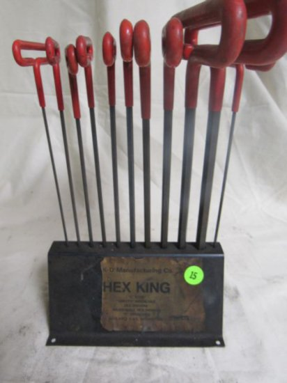 """Hex King """"T"""" wrenches, 3/32, 7/64, 1/8, 9/64, 5/32, 3/10, 7/32, 1/4, 5/16, 3/8"""""""