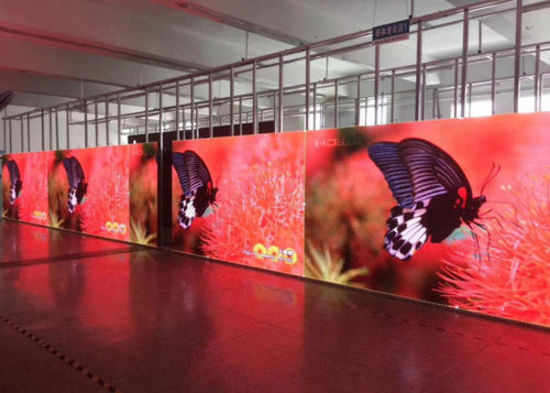 P2.5 LED video wall display 216 cabinet system