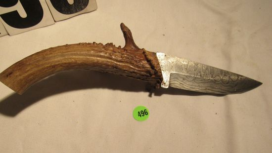 Hunting knife with deer antler    Auctions Online   Proxibid
