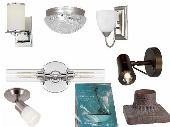 chandelier, sconces, wall lamps, vanity, ceiling spot lights, deluxe lamp shade