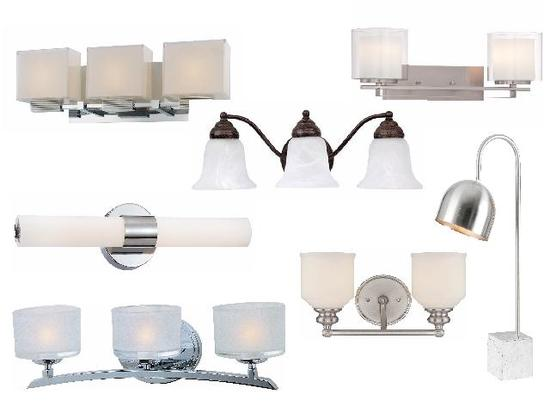 mixed new vanity lights, sconces, wall lamps, table lamp, ceiling fixtures