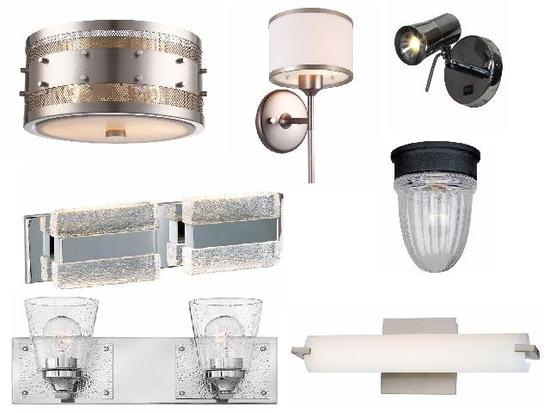 mixed new sconces, ceiling lights, vanity lights, wall lights