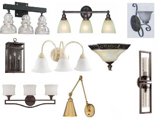 New wall sconces, vanity lights, hanging lights in original boxes