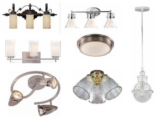 New wall sconces, vanity lights, table lamps, pendant lights, ceiling lights