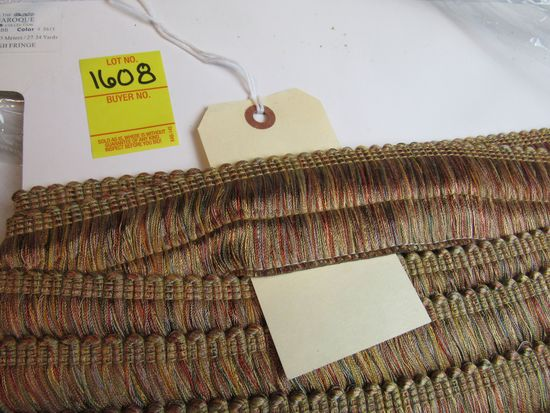 """Baroque 2"""" brush  fringe by the yard style 0175BB color 5615 gold with maroon green blue and yellow"""