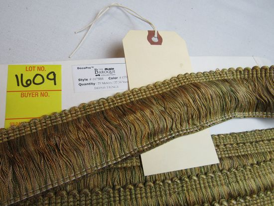 """Baroque 2"""" brush fringe style 0175BB color 1755 gold with green red and other blended colors"""