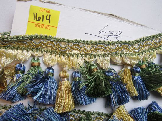 """Imperial 3"""" tassel fringe by the yard TF12 color 4668 (green gold and blue)"""