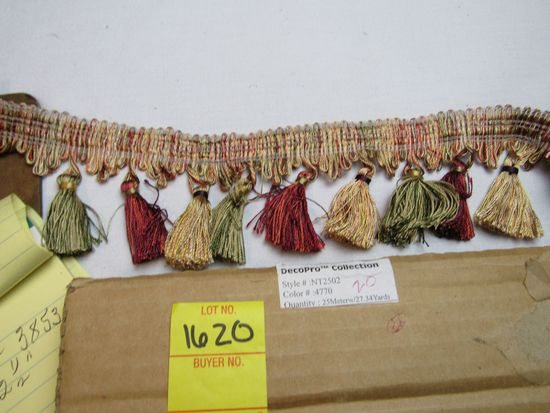 """Imperial 3"""" tassel fringe by the yard NT2502 color 4770 (maroon gold green)"""