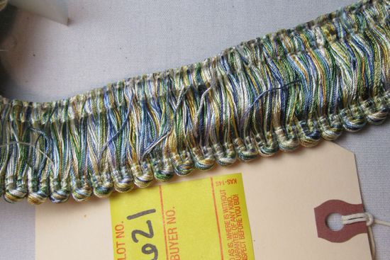 Baroque Fringe by the yard T668 color 4666 (green blue gold)