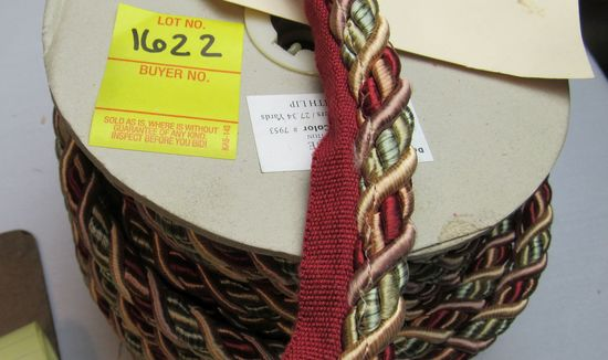 """Baroque 0716BL color 7953 7/16"""" fabric trim cord with lip by the yard"""