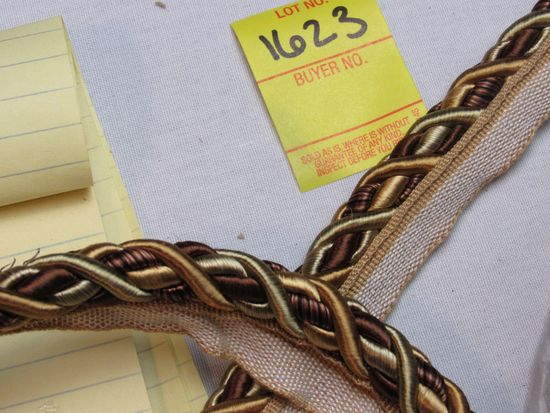 """Baroque 7/16"""" fabric trim cord with lip  0716BL color 7346 by the yard"""