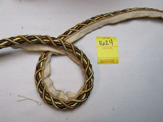 """Baroque  7/16"""" fabric trim cord with lip  0716BL color 7347 by the yard"""