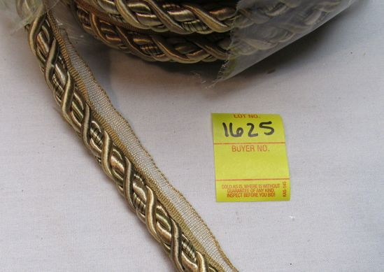 """Baroque 7/16""""  fabric trim cord with lip  0716BL color 7348 by the yard"""