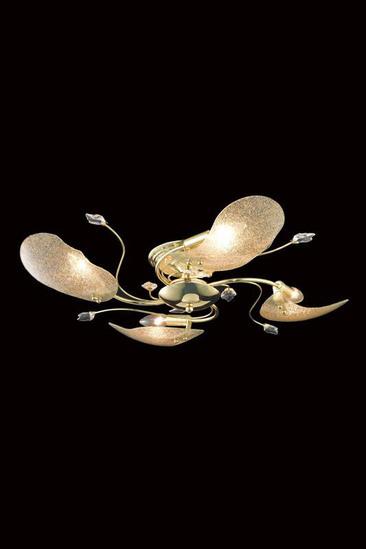 Elegant Lighting  Petal 4 Light 26 inch Gold Flush Mount Ceiling Light