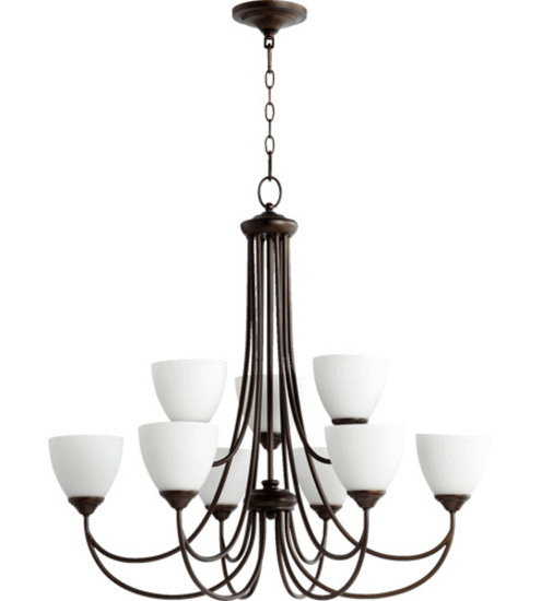 Quorum Brooks Oil Bronze 9-light Chandelier #6050-9-86
