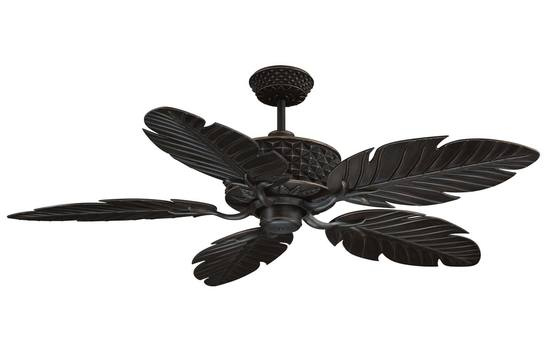 "Ellington 52"" Pineapple Fan 3-speed reversible motor, remote control, approved for damp locations #P"