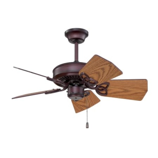 """Craftmade 30"""" Piccolo Fan, 3-speed reversible #P130"""